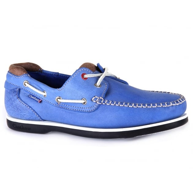 Chatham Churchill Blue/Taupe Shoes