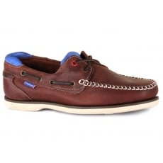 Chatham Churchill Dark Brown/Blue Shoes