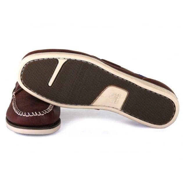 Chatham Churchill Dark Brown/Blue Shoes