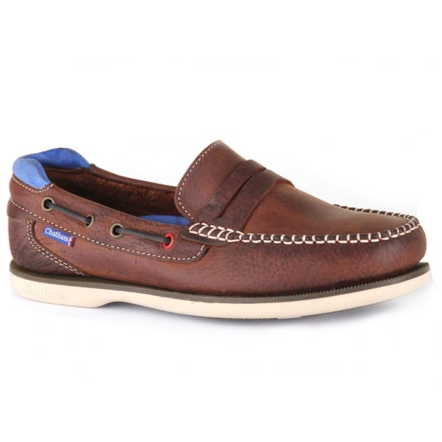Chatham Peel Dark Brown/Blue Shoes