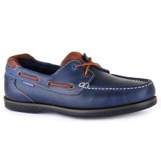 Chatham Pitt Navy/Tan Shoes