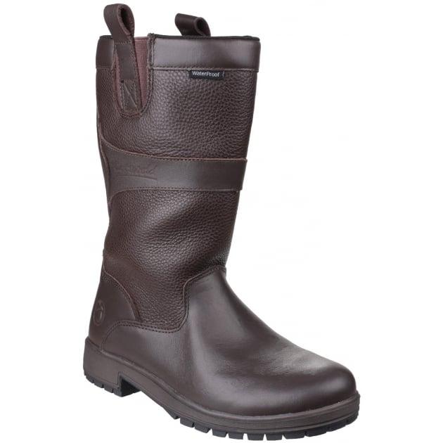Ascot Waterproof Pull On Brown Wellies
