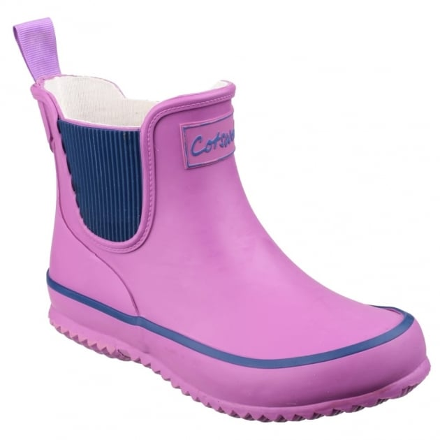 Cotswold Bushy Kids Wellingtons Purple