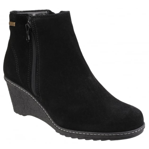 Cotswold Ford Waterproof Zip Up Ankle Boots Black