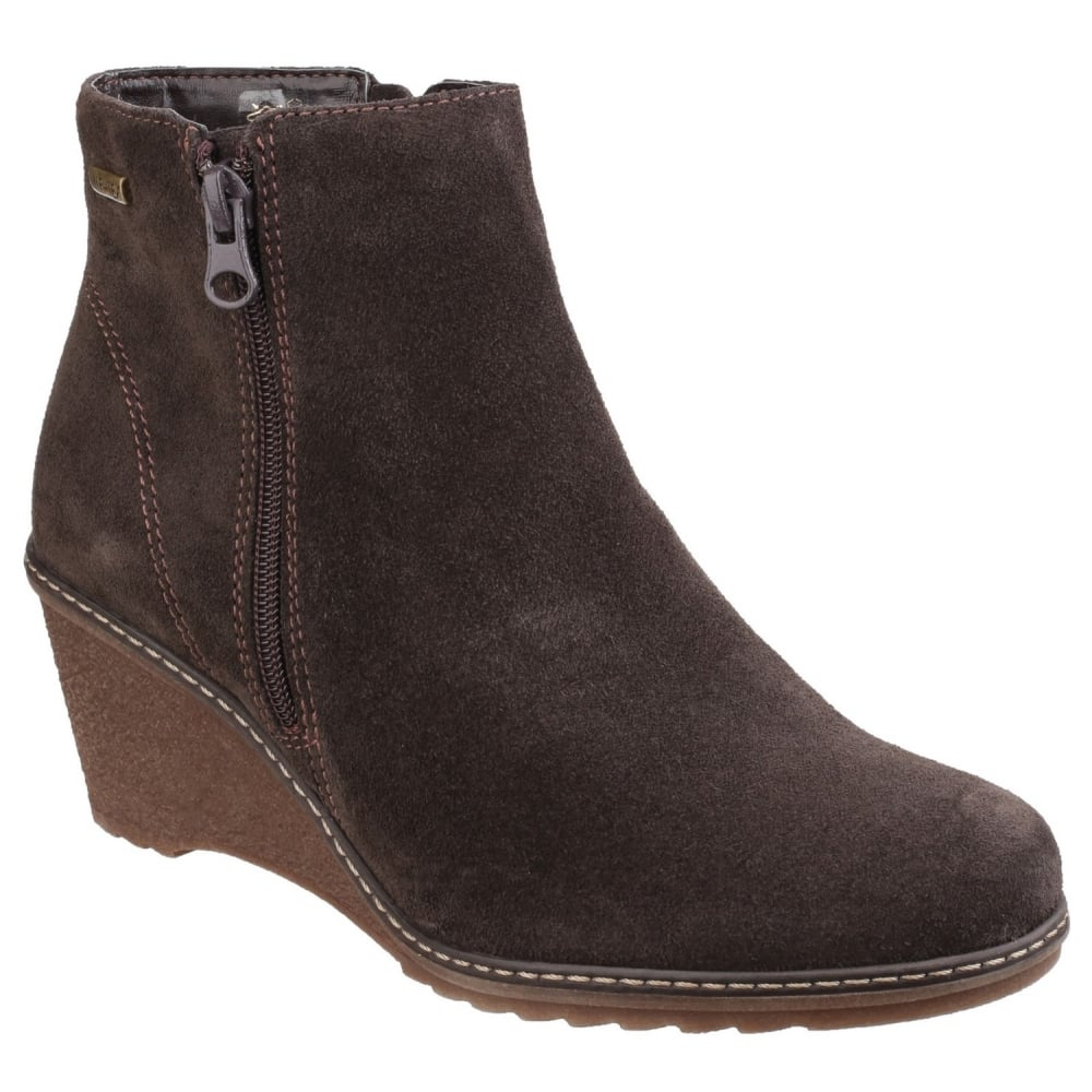 cotswold ford waterproof zip up ankle s brown boots