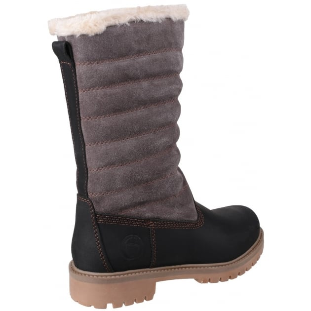 Cotswold Ripple Zip Up Black/Grey Boots