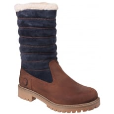 Cotswold Ripple Zip Up Brown/Black Boots
