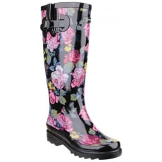 Cotswold Rosefest Wellington Black/Pink