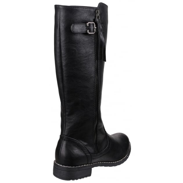 Divaz Bari Zip Up Boot Black