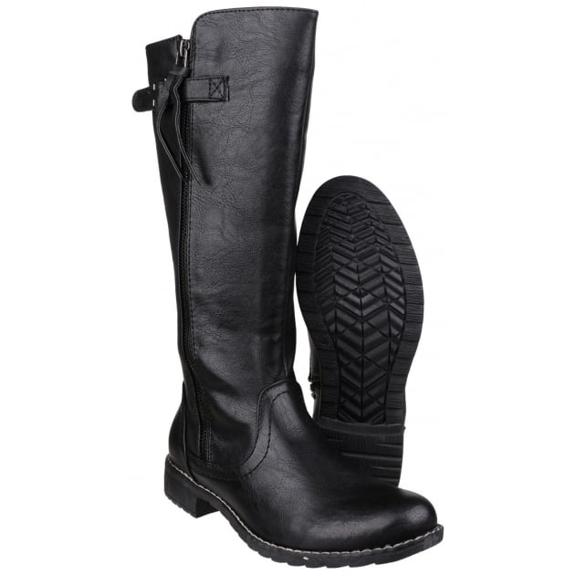 Bari Zip Up Boot Black