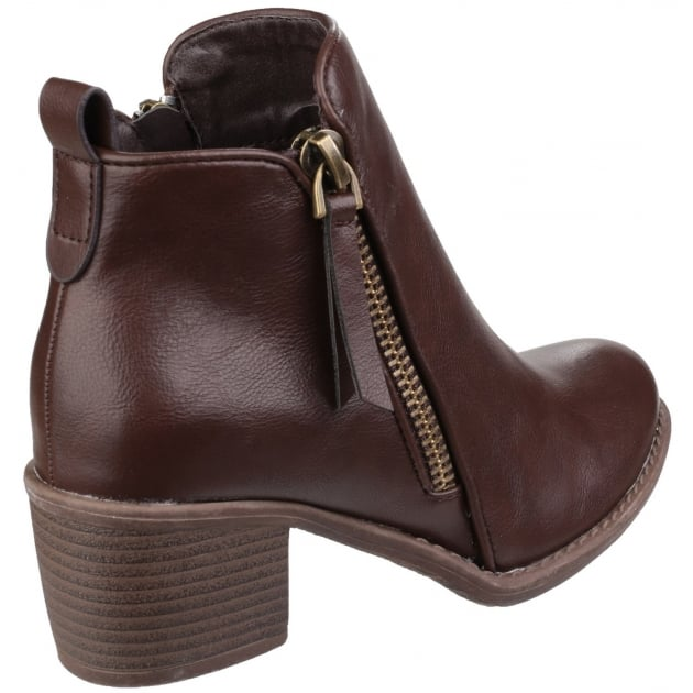 Dench Zip Up Ankle Boot Brown