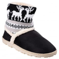 Divaz Denmark Pull On Bootie Slippers Black