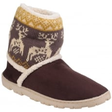Divaz Denmark Pull On Bootie Slippers Brown
