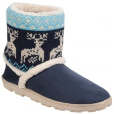 Divaz Denmark Pull On Bootie Slippers Navy