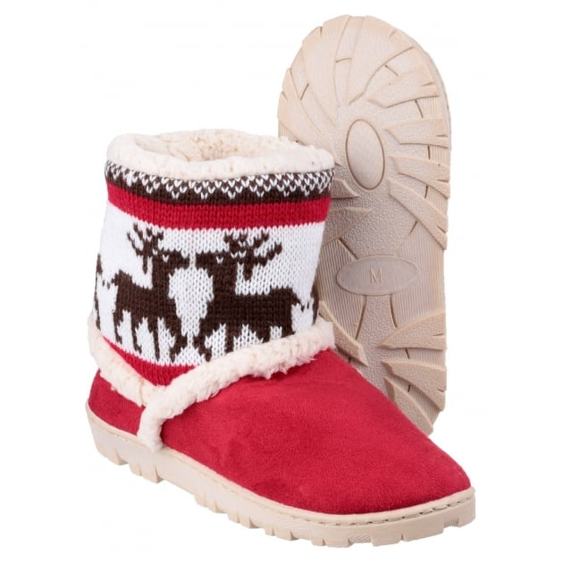 Divaz Denmark Pull On Bootie Slippers Red