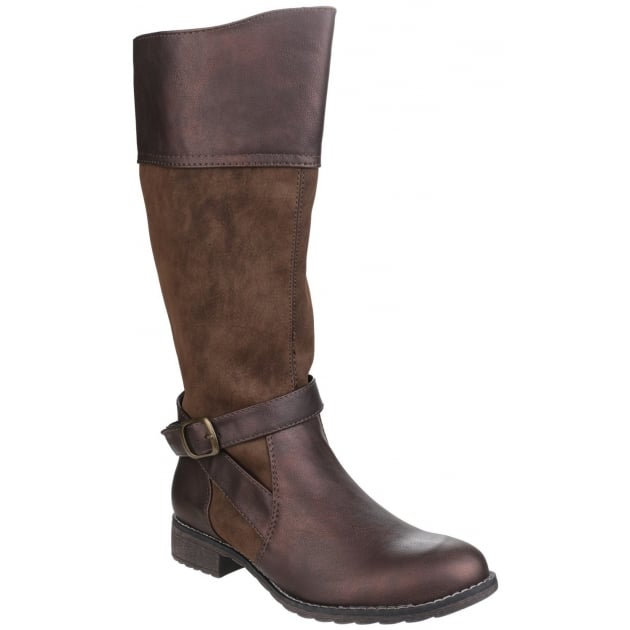 Divaz Garbo Zip Up Boot Brown