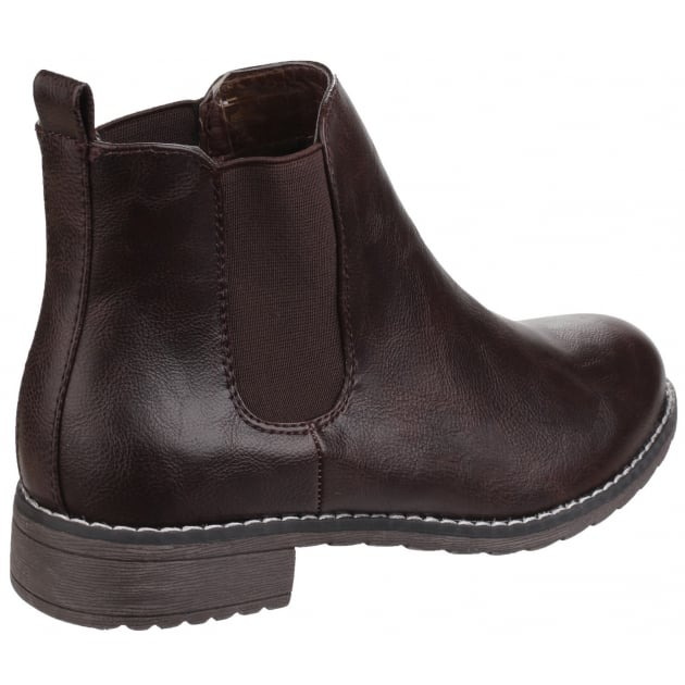 Kelly Pull On Ankle Boot Brown