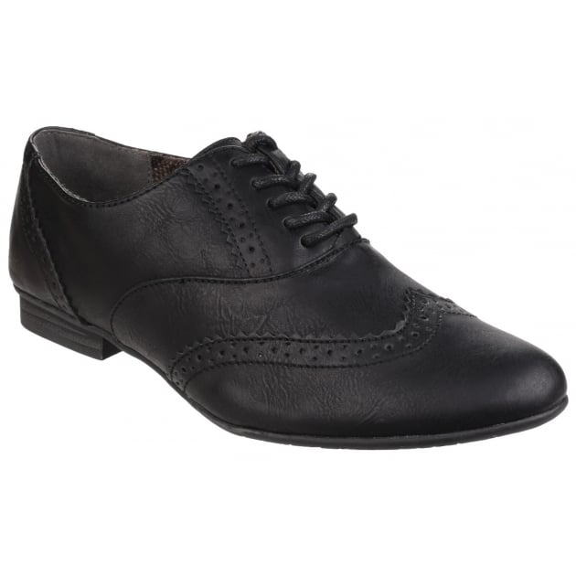 Divaz Levato Lace Up Ladies Brogue Shoe Black