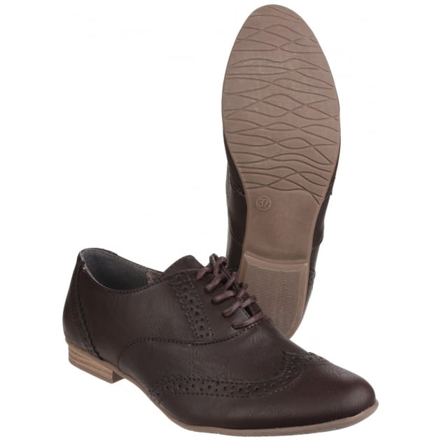 Divaz Levato Lace Up Ladies Brogue Shoe Brown