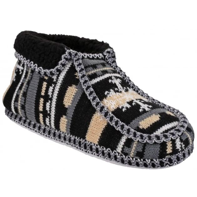 Divaz Norway Slip On Black Slippers