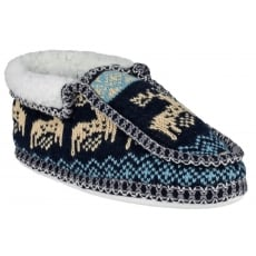 Divaz Norway Slip On Navy Slippers