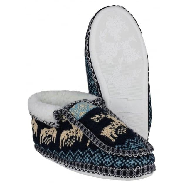 Divaz Norway Slip On Navy Slippers