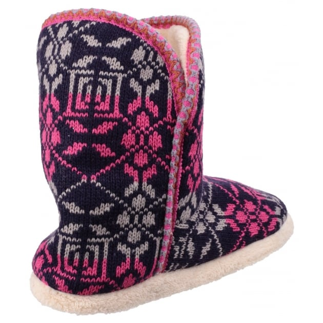 Oslo Bootie Slippers Burgundy