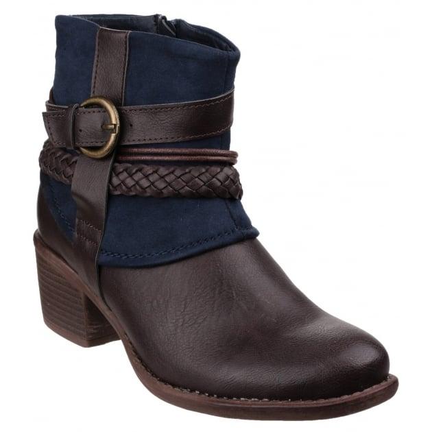 Vado Zip Up Ankle Boot Navy
