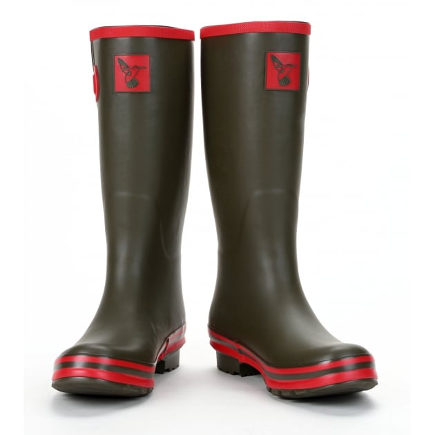 Evercreatures Army Surplus Tall Wellies - Green Wellingtons