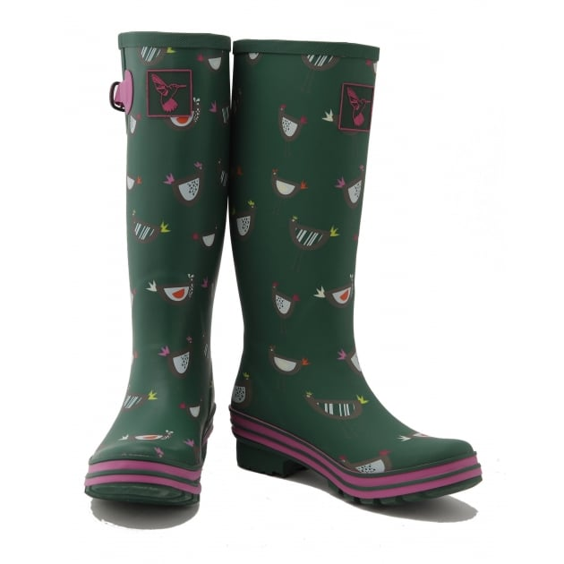 Evercreatures Chicken Tall Wellies - Green Wellingtons