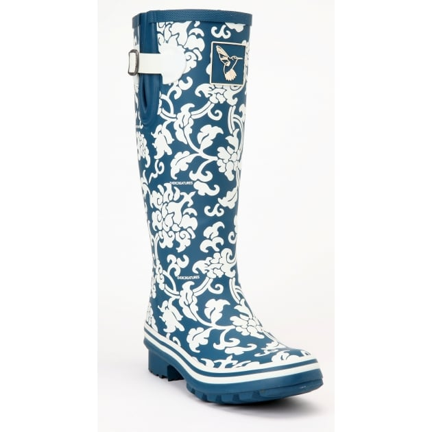 Evercreatures Delft Tall Wellies - Off White Wellingtons