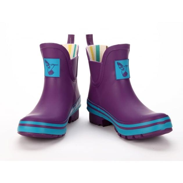 Evercreatures Eggplant Meadow Ankle Wellies - Purple Wellingtons