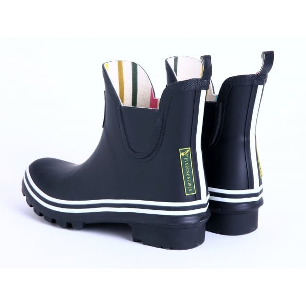 Evercreatures Black Meadow Ankle Wellies