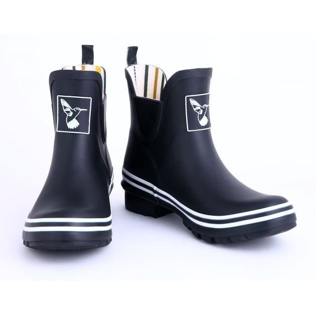 Evercreatures Black Meadow Ankle Wellies - Wellingtons