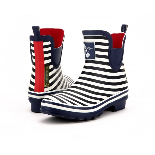 Evercreatures Bristol Meadow Ankle Wellies - Marine Wellingtons