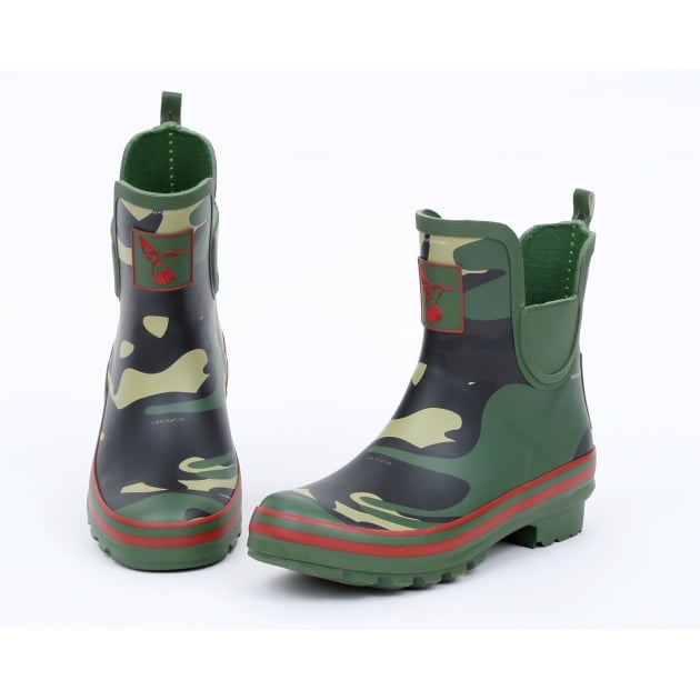 Evercreatures Camo Meadow Ankle Wellies - Camo Wellingtons