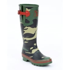 Evercreatures Camo Tall Wellies - Camo Green Wellingtons