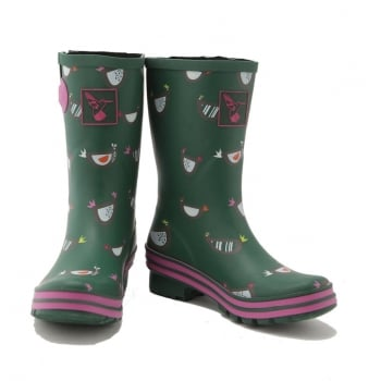 Evercreatures Chicken Short Wellies - Green Wellingtons