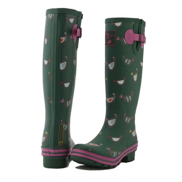 Evercreatures Chicken Tall Wellies - Green