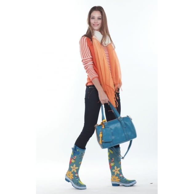 Evercreatures Dahlia Tall Wellies - Multi