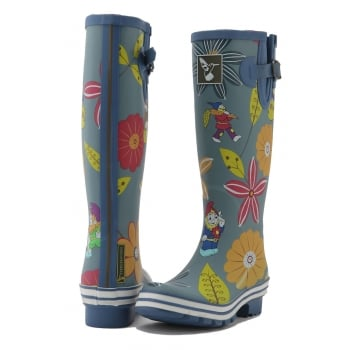 Evercreatures Dahlia Tall Wellies - Multi Wellingtons