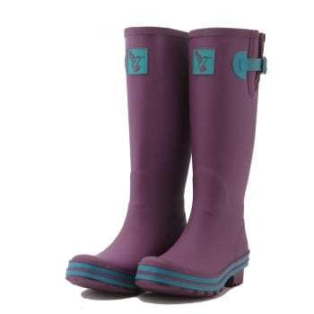 Evercreatures Eggplant Obsession Tall Wellies  - Wellingtons