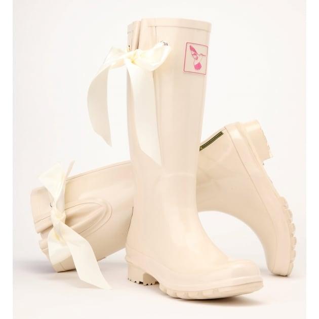 Evercreatures I Do Wedding Tall Wellies - Cream Wellingtons