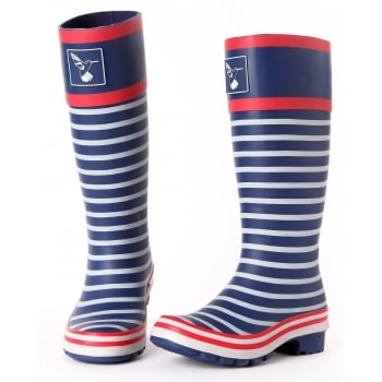 Evercreatures In the Navy Tall Wellies - Wellingtons