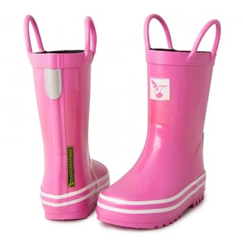 Evercreatures Kids Pink Wellies - Wellingtons