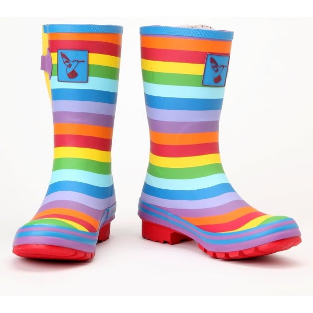 Evercreatures Rainbow Short Wellies - Multi Wellingtons