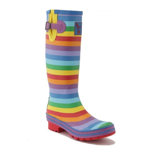 Evercreatures Rainbow Tall Wellies - Multi