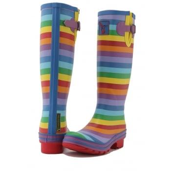 Evercreatures Rainbow Tall Wellies - Multi Wellingtons