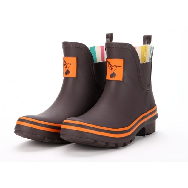 Evercreatures Terracotta Meadow Ankle Wellies - Choc Wellington