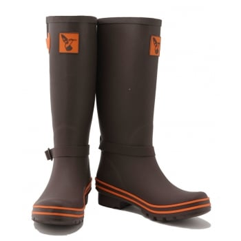 Evercreatures Terracotta Tall Wellies - Choc Wellington